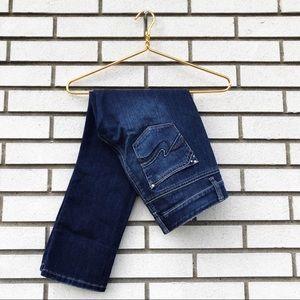 White House Black Market Jeans - WHBM Blanc Distressed Crop Jeans